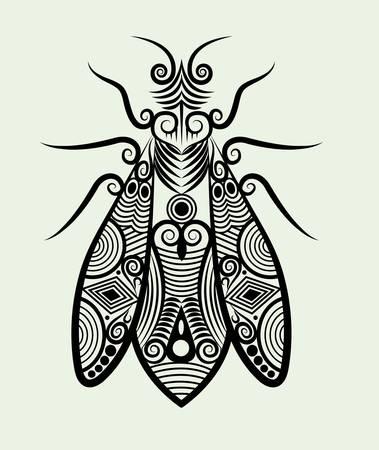 dessin � l'encre d'abeille ornement pour la conception de tatouage