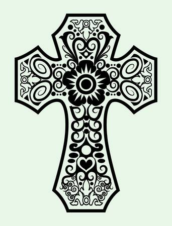 abstract cross: Symbol ornament drawing