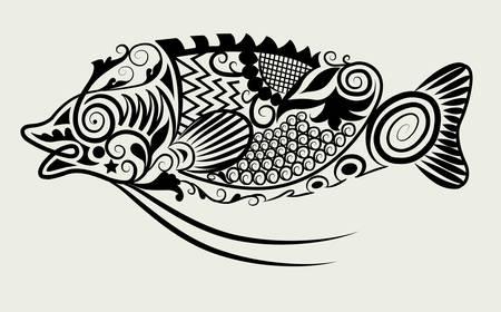 animal ornament drawing Illustration