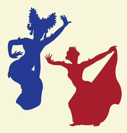 spontaneously: dancer silhouette pose, shadow illustration style