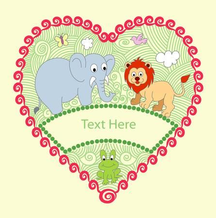 decorative animals Vector