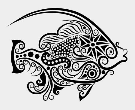 Decorative fish  2 Stock Vector - 13430960