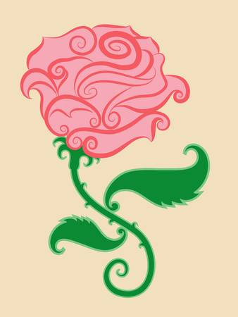 spontaneous: Decorative rose