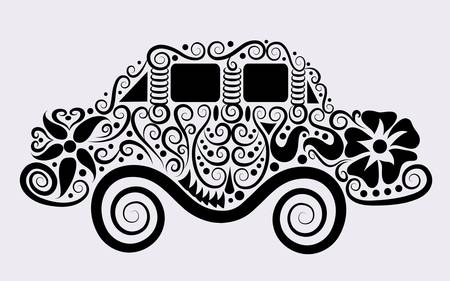 Decorative car ornament Vector