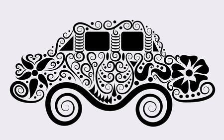 car ornament: Decorative car ornament Illustration