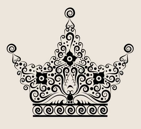 Crown decorative ornament Vector