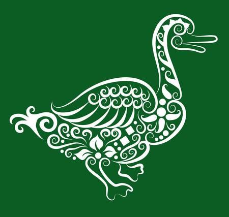 goose: Duck decorative ornament