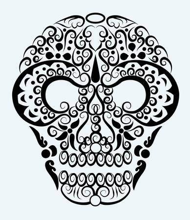 Skull decorative ornament Vector