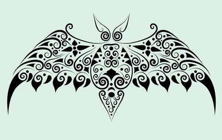 Bat decorative ornament Vector