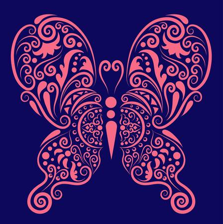 Butterfly decorative ornament Stock Vector - 13762591