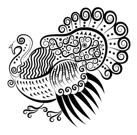 Turkey decorative ornament Vector