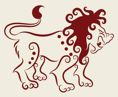 Lion decorative ornament Vector