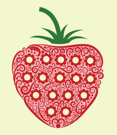 strawberry decorative Vector
