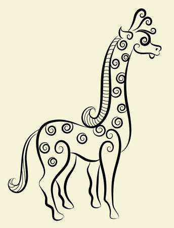 Giraffe decorative Ilustrace
