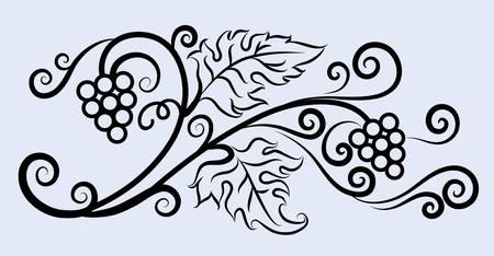 Grape decorative ornament Stock Vector - 13913118