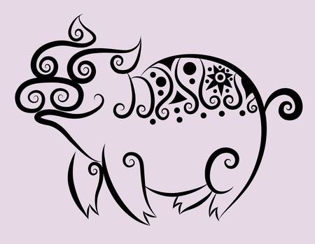 Pig decorative Vector