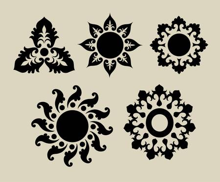 Flowers 1  Decorative floral element, easy to change color Vector