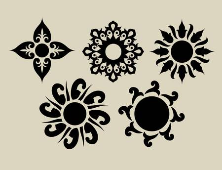 Flowers 2  Floral element for textile design or any design you want Ilustracja