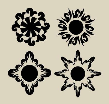 Flower 3, for any design or tatoo design Vector