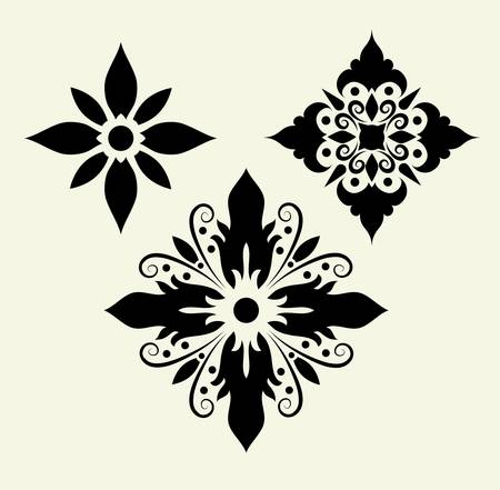 Flowers 5, floral pattern element