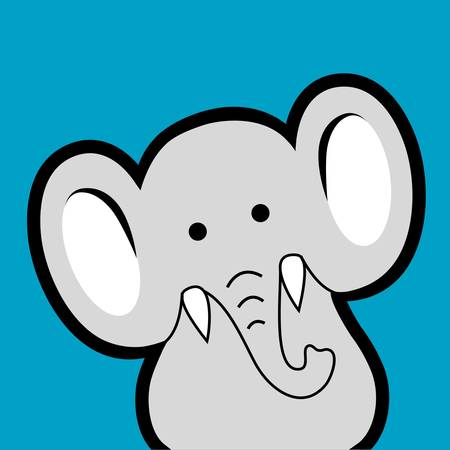 Elephant avatar. Animal cartoon character Vector