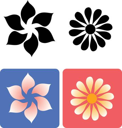 flower line: Flower for any design
