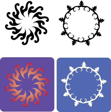 spontaneously: Flowers 5, flora ornament elements