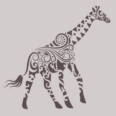Giraffe ornament Vector
