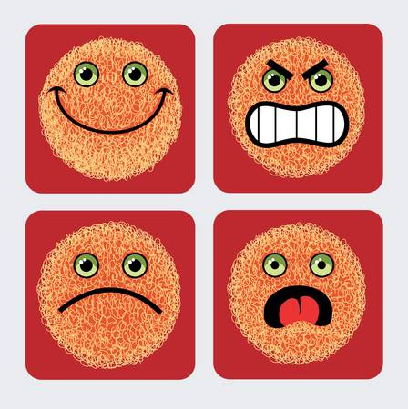 POSITIVE NEGATIVE: Emoticon icons  Illustration