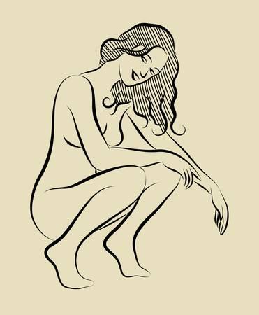 jeune fille adolescente nue: Croquis fille sexy 3