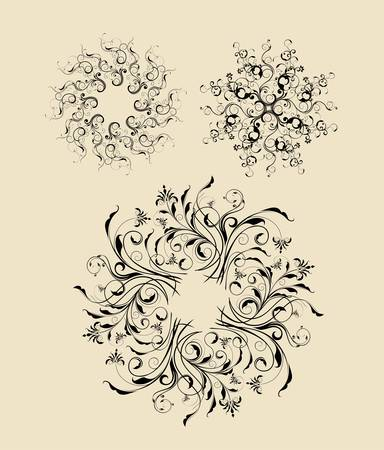 Abstract Flowers 2 Vector