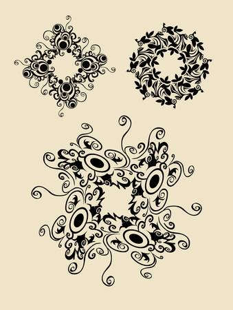 Abstract Flowers 3 Vector