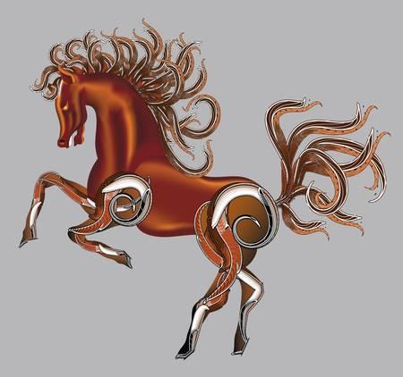 Horse fantasy vector Vector