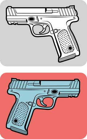 hand gun: Weapon icon vector 1 (Easy to use or edit icon)
