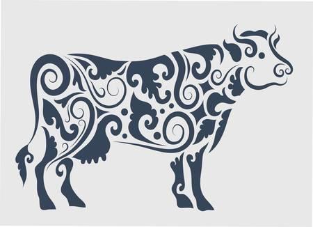 engrave: Cow ornament