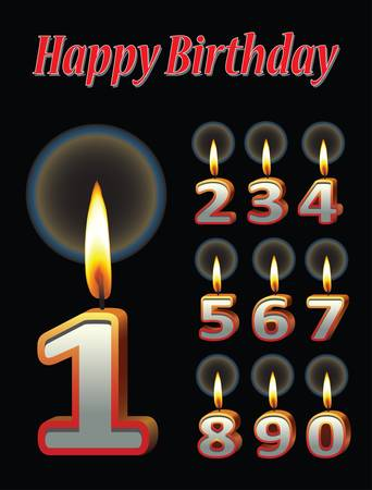 Birthday candle vectors Vector