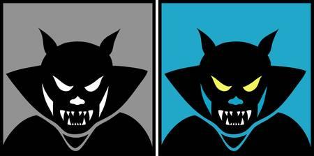 dark face: Dracula, Halloween mask 1 Illustration