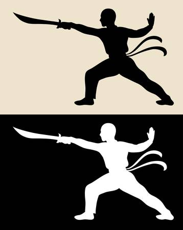 duel: Martial Silhouette Vector 2