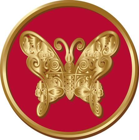 Golden butterfly coin