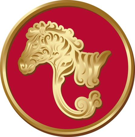 Golden zebra coin Stock Vector - 16731567