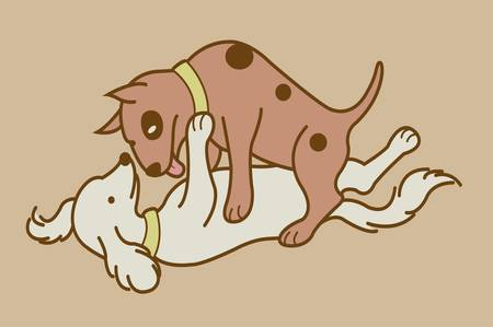 romantic sex: Making love position 2, erotic couple dogs version
