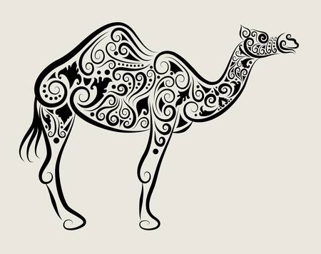 Camel ornament  Vector