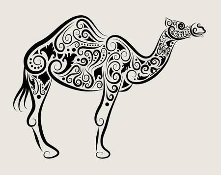 monocrom�tico: Camel ornamento