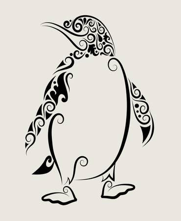 pinguins: Penguin ornement d�coratif