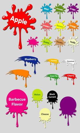 splash color: Etichetta Splash, tre forme di combinazione