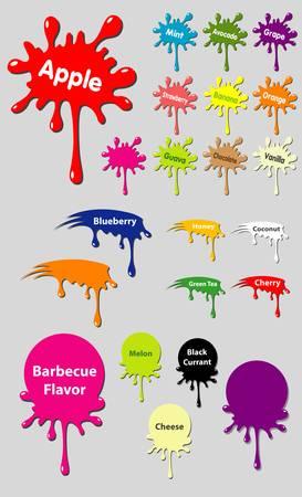 splash paint: �tiquette Splash, trois formes de combinaison