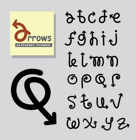 Arrows Alphabet Symbol Vector