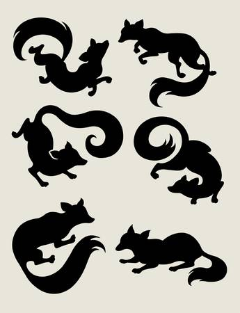 Fox Silhouette Symbols Stock Vector - 17861173