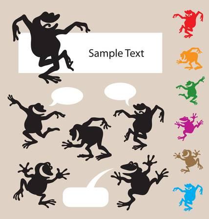 Frog Dancing Silhouette