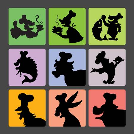 Chef Silhouette Symbols 2  Smooth and detail curve silhouette vector  Easy to edit  Vector